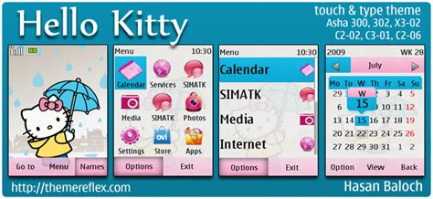 download themes for nokia asha 210 zedge theme nokia asha 200 hello kitty hello kitty theme for