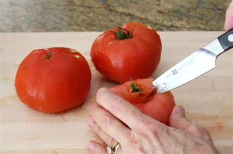 how to peel core and seed fresh tomatoes