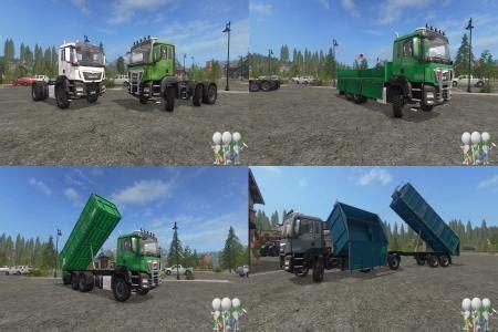 man agrotruck pack dh by bonecrusher6 v2.0 fs17 farming
