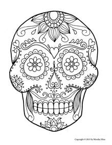 sugar skull coloring how to draw sugar skulls tutorial lucid publishing