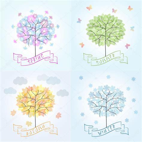 imagenes de invierno verano otoño y primavera 193 rbol en cuatro estaciones primavera verano oto 241 o