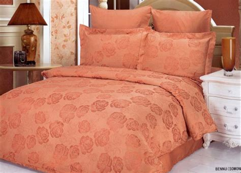salmon bedding bennu salmon 6 piece full queen bedding intricately