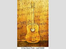 Abstract scene of the acoustic guitar as music background. Jpeg Clip Art Free Images