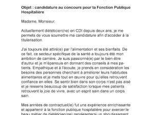 Exemple De Lettre De Motivation Fonction Publique lettre de motivation concours fonction publique