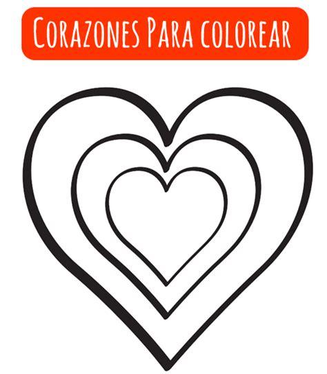 imagenes de corazones simples dibujos para colorear enero 2013