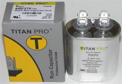 titan capacitor review 5 mfd titan pro oval extended run capacitor