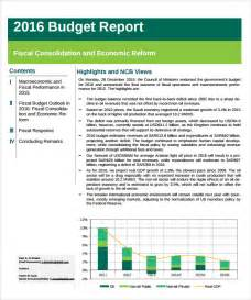 budget report template 9 download documents in pdf