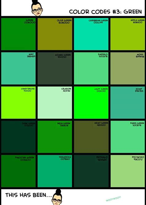 light shades of green shades of green names packed with shades of yellow names