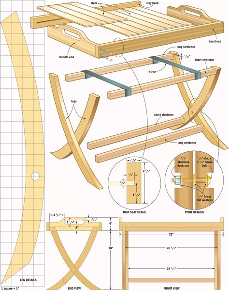 free plans woodworking portable table tray woodworking plans woodshop plans