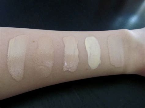 Clinique Acne Solutions Foundation swatches clinique acne solutions foundation fresh