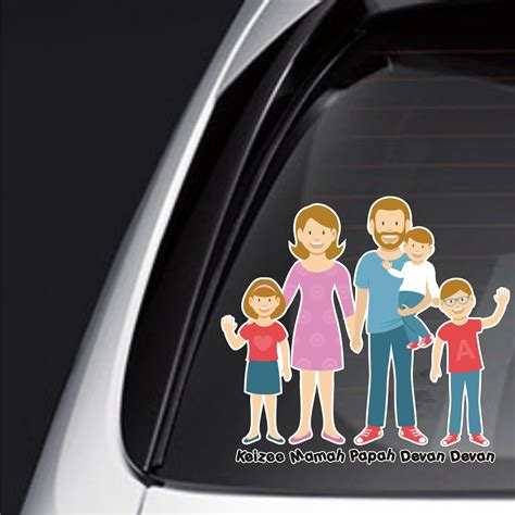 Sticker Mobil 018 Sticker On Board Sticker Baby On Board jual harga sticker family keluarga anak mobil custom