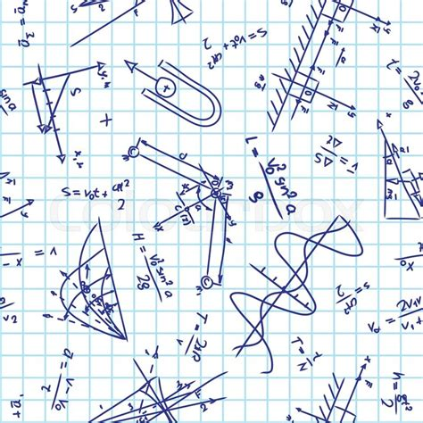 net pattern for physics seamless pattern with physics formulas on school notebook
