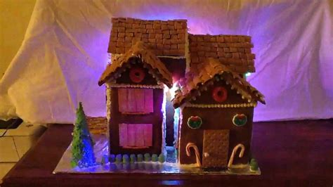 house lights synced to lights synced to on gingerbread house