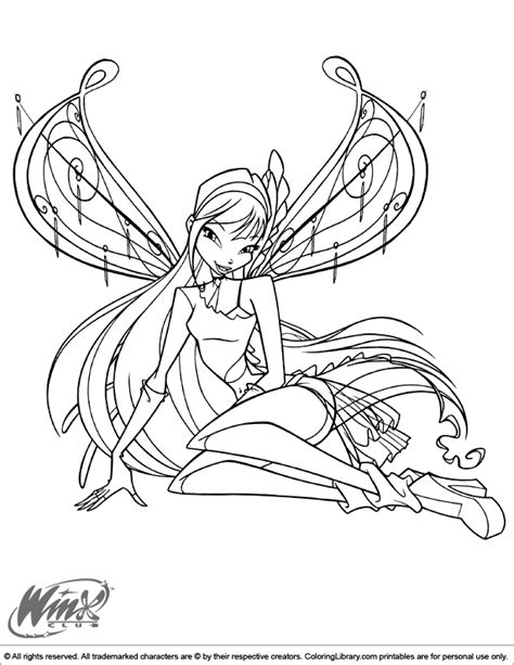 free coloring pages of winx love and pet