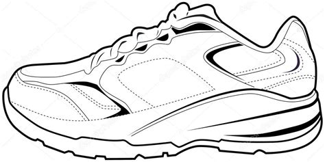free coloring pages of a tennis shoe