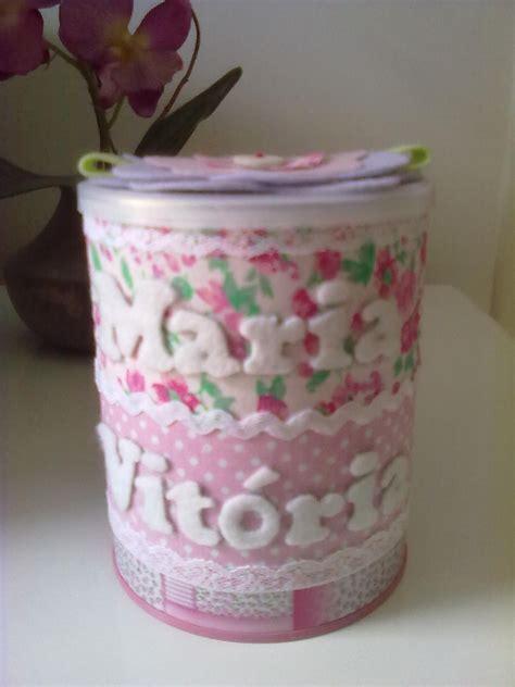 decorar latas papel lata de leite decorada tecido e feltro artesanato