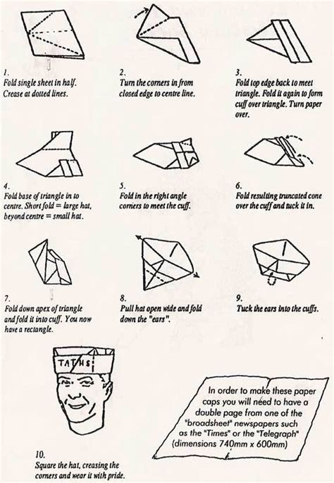 How Make Paper Hat - coif 蝓i p艫l艫rii origami func螢ional
