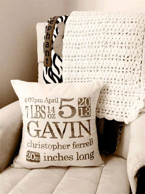 Birthing Pillow by Personalized Birth Stats 16 X 16 Pillow By