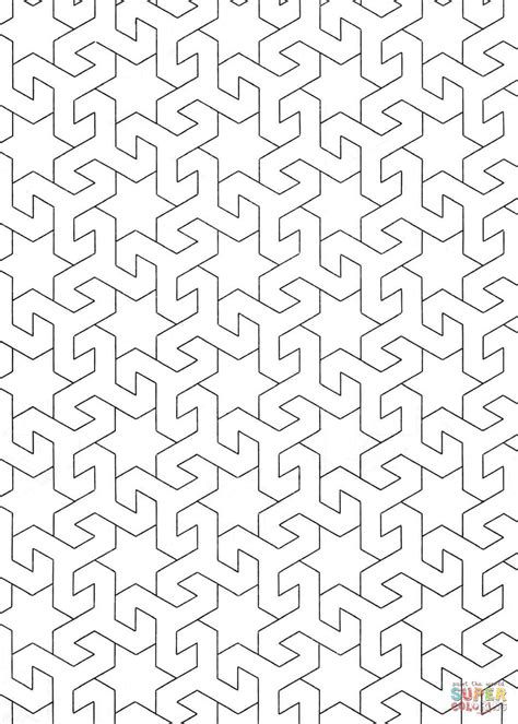 islamic pattern colouring islamic pattern coloring page free printable coloring pages