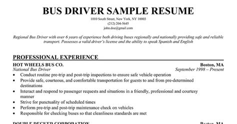 Limo Driver Sle Resume by Resume Sles Limousine Driver Resume