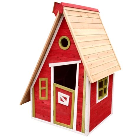 casetta per bambini da giardino casetta con tetto inclinato in legno per bambini