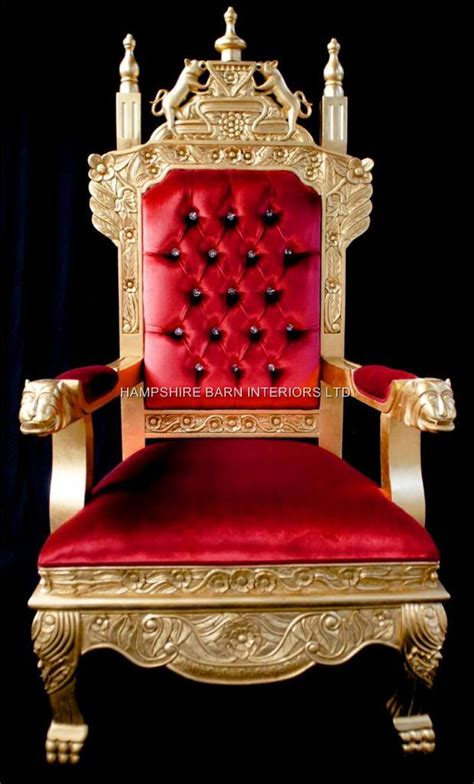 High Dining Room Chairs by A Tudor Royal Throne Chair Gold And Red Velvet Hampshire