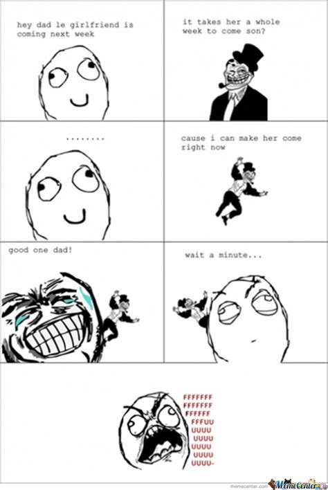 Troll Meme Comic - troll dad rage by booyaka meme center