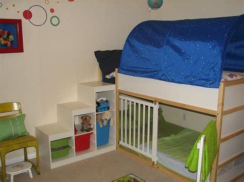 Bunk Bed Shelf Ikea Ikea Kura Loft With Trofast Storage Shelf As Steps For The Kid S Room Pinterest Big