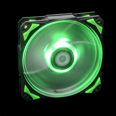 green led computer fan green led 120mm 4pin fan with de vibration rubber 1600rpm