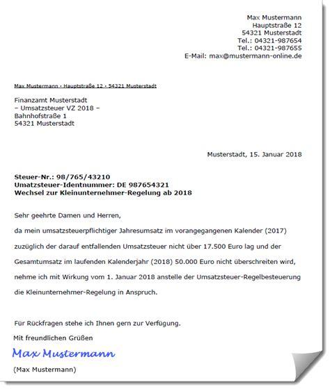 Antrag Kleinunternehmerregelung Vorlage kleinunternehmerregelung voraussetzungen und sonderf 228 lle erkl 228 rt