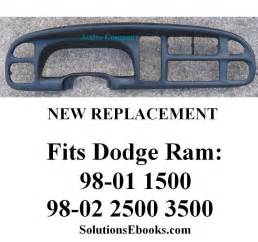 Dodge Ram Dashboard Replacement 2001 Dodge Ram 1500 Dashboard Replacement Html Autos Weblog