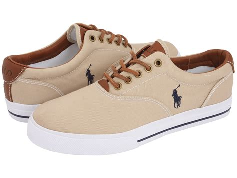 polo shoes polo ralph vaughn canvas leather at zappos