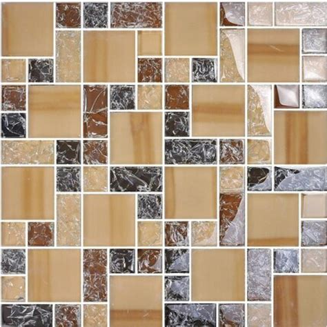 cheap glass tiles for kitchen backsplashes crackle glass tile backsplash cheap brown mosaics bathroom mirror wall tiles ma13
