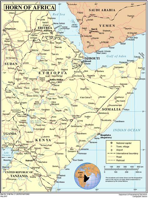 landkarte horn von afrika weltkartecom karten und