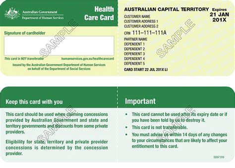 health care card australian government department of