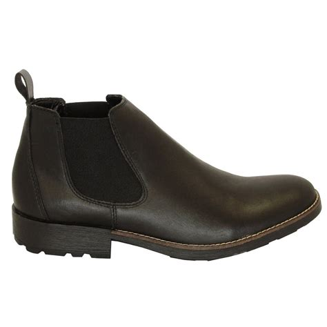 mens pull on boots rieker 36082 00 mens pull on boots in black mozimo