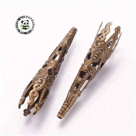 iron bead cones lead free nickel free antique bronze color about 41mm 8mm wide