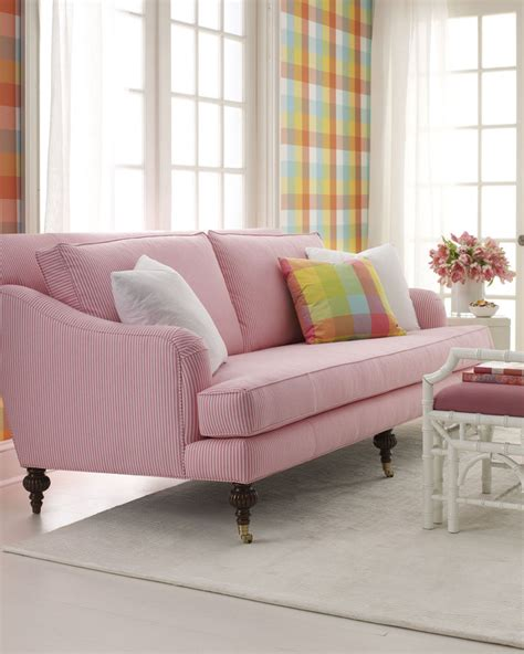 bright coloured sofas bright colored sofas in neutral spaces popsugar home