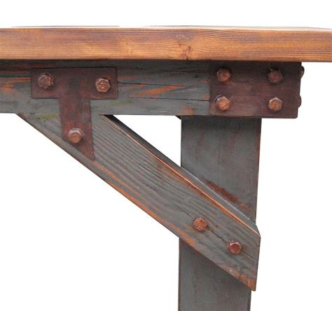 reclaimed wood dining bench industrial work bench dining table in salvaged wood