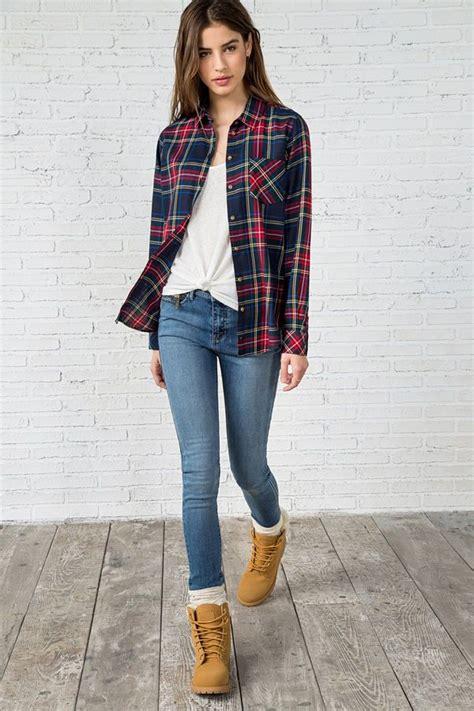 look de ropa mujer invierno las 25 mejores ideas sobre camisas a cuadros en pinterest