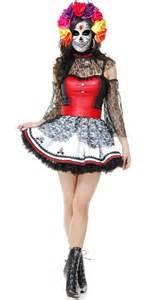 Womens Halloween Costume Dia De Los Muertos Costume Mexican Costume Womens Day Of The Dead Costume