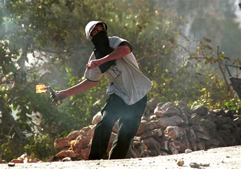 throwing a cocktail molotov cocktails thrown at israeli near hebron the