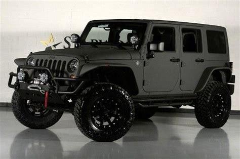 jeep wrangler jacked up matte black sell starwood custom bentley matte satin kevlar