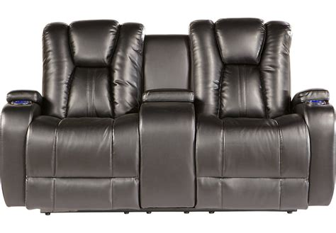 Console Loveseat Kingvale Black Power Reclining Console Loveseat