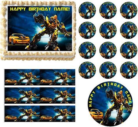 Cupcake Toppers Karakter Tema Bumblebee Transformers transformers bumblebee edible cake topper image frosting sheet edible images