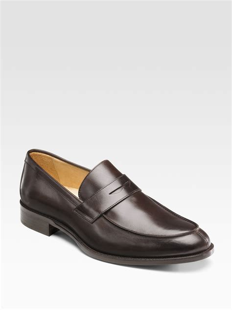 saks mens sneakers saks fifth avenue splittoe loafers in brown for