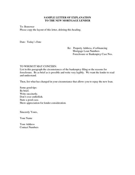 Letter Of Explanation Samples   Resume Cover Letter Template