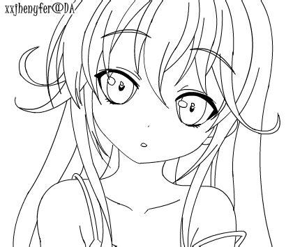 anime girl lineart by xxjhenyfer on deviantart