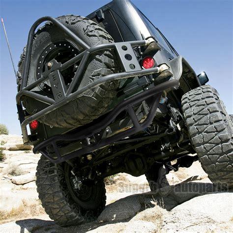 jeep wrangler rock guards 2007 2017 jeep wrangler jk black rock crawler tubular rear
