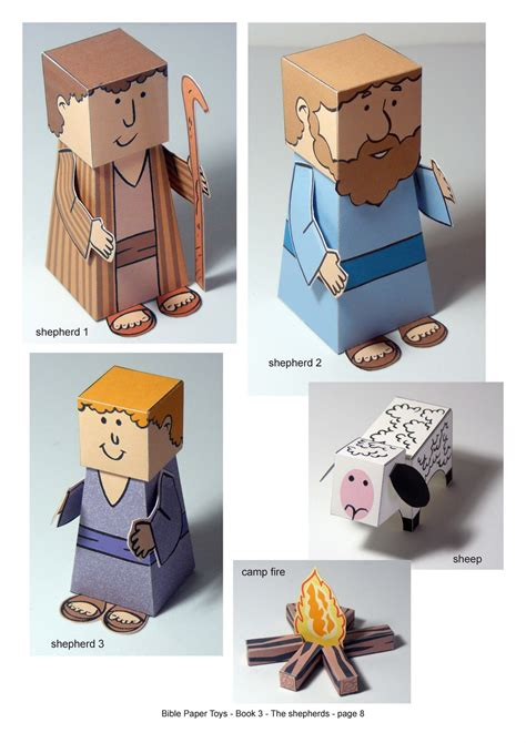 Paper Craft Books Free - my house bible paper toys book 3 the shepherds
